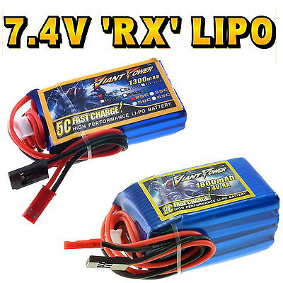 7.4V 1300mAh - 2200mAh RC 2s LiPo RX Receiver Battery 3C Giant Power • 18.99£