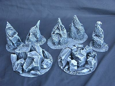 WARHAMMER SCENERY , ROCK SECTIONS X6 SET • 30£