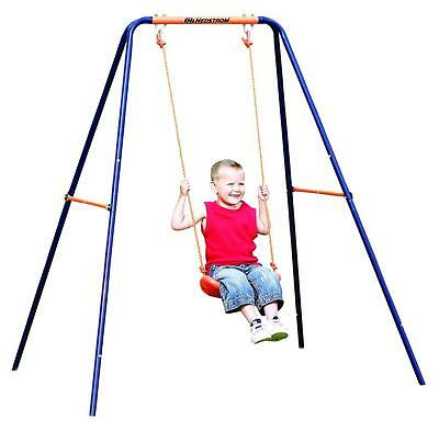 Hedstrom Single Play Swing Garden Toy Boys & Girls Robust Steel 3-10yrs Outdoor • 33.99£