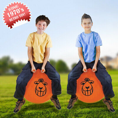 Retro Space Hopper Exercise Toy Play Large Ball Adult Kids Game 60cm / 80cm • 13.99£