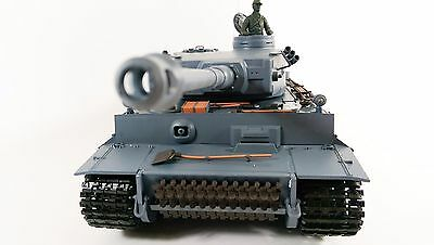 Heng Long 2.4GHZ German Tiger 1 Tank With SMOKE And SOUND Radio Control RC Tank • 139.99£