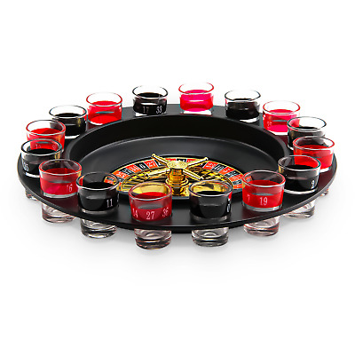Casino Party Glasses Game Spin & Shot Roulette Wheel Drinking Set For Adults 18+ • 7.29£