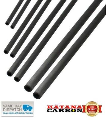 UD 1 X OD 6mm X ID 4mm X 500mm (0.5 M) Premium 100% Carbon Fiber Tube Pultruded • 2.20£