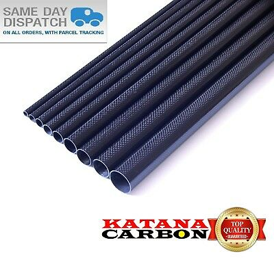 1 X OD 25mm X ID 23mm X 1000mm (1 M) 3k Carbon Fiber Tube (Roll Wrapped) Fibre • 20.20£
