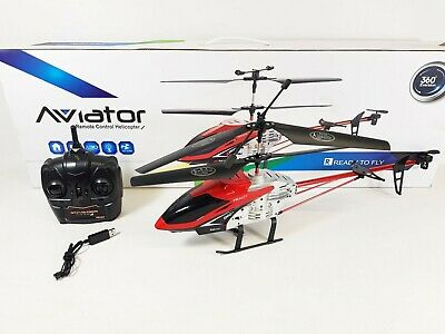 HUGE Metal Remote Control RC 1201 Volitation Alloy 3ch GYRO R/C Helicopter Drone • 39.99£