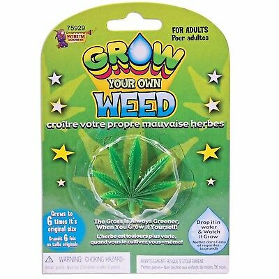 Grow Your Own Weed Cannabis Drugs Joke Adult Gift Funny Birthday Novelty Present • 2.95£