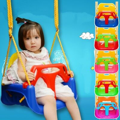 3 IN 1 Indoor Outdoor Patio Kids Plastic Hanging Swing Seat Garden Play Toy  • 19.99£