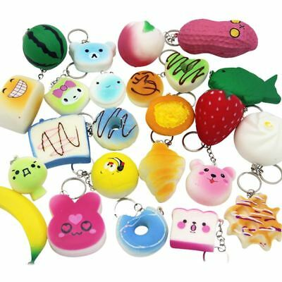 10 X Assorted Soft Cute Squishies Phone Charms Slow Rising (Lucky Dip) • 6.99£