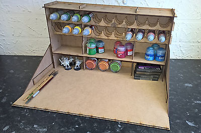 Large Paint Station, Model Work Warhammer 40k Airfix Vallejo Rack Stand Citadel • 19.99£
