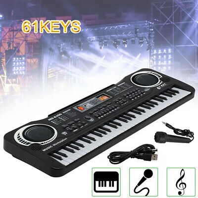 61 Keys Digital Music Electronic Keyboard Electric Piano Organ & Microphone Set • 9.99£