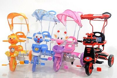 Child Kids Baby Ride On Tricycle Bike 3 Wheels 4 In 1 Smart Trike Parent Handle • 49.99£