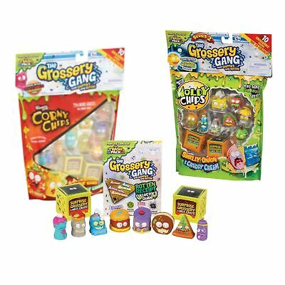 Grossery Gang - Pack Of 10 Series 1 Corny Chips Series 2 Moldy Chips Official • 8.99£