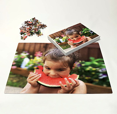 Personalised Photo On Puzzle Print In Box - Custom Own Image On Jigsaw • 12.99£