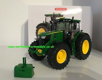 Wiking 1/32 Scale John Deere 6250r Model Tractor With Weight (mib) • 65.95£