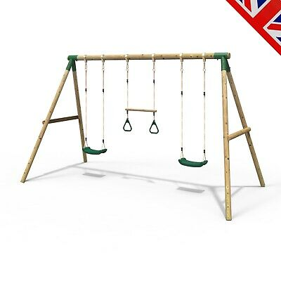 Rebo Kids Wooden Garden Swing Set Childrens Swings - Comet • 209.95£