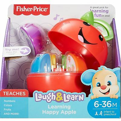 Fisher-Price DRF57 Laugh & Learn Learning Happy Apple Baby Toy • 14.99£
