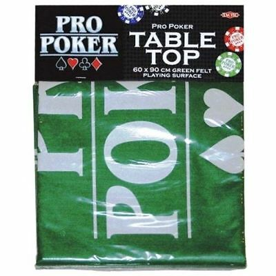 Tactic Games 152273 Pro Poker Table Top Green Felt Playing Surface • 4.99£