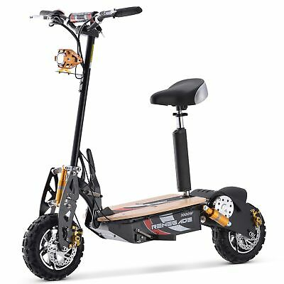 Renegade 1000W Powerboard 48V Rechargeable Electric Scooter - Black • 609.95£