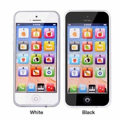 Kids Toy Phone New Educational English Learning Toy Mobile Phone Black/White • 5.99£