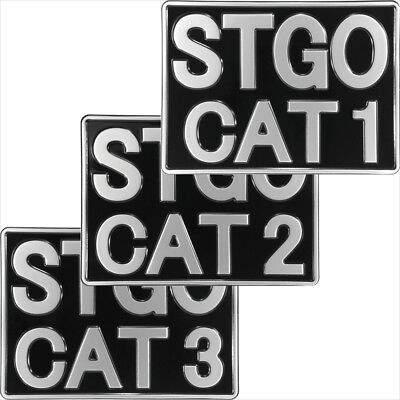 Abnormal Load STGO CAT 1 2 3 Truck Novelty Pressed Metal Plate 11x8 Black Silver • 13.75£