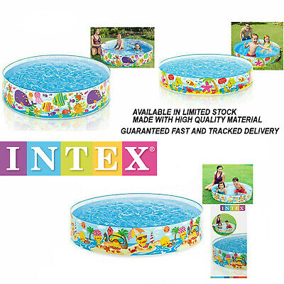 Kids Children Garden Snapset 4 FT 5 FT 6 FT Paddling Rigid Swimming Pool Party • 14.90£