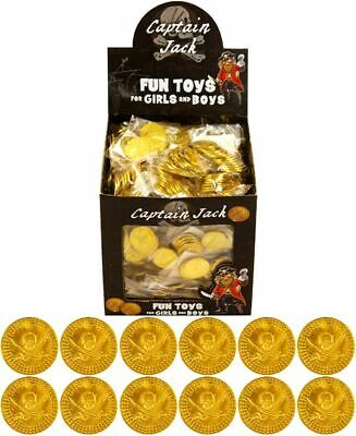 Kids Boys Girls Loot Bag Filler Toy Gold Pirate Coin Plastic • 1.49£