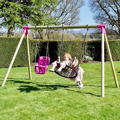 Rebo Junior Range Wooden Garden Swing Set - Different Styles • 169.95£