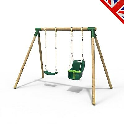 Rebo Junior Range Wooden Garden Swing Set - Junior Luna • 179.95£