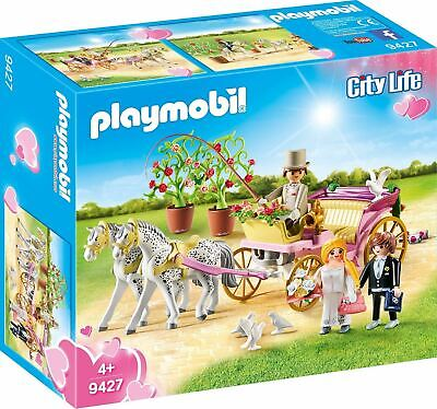 Playmobil 9427 Wedding Carriage With Horses Playset NEW • 19.99£