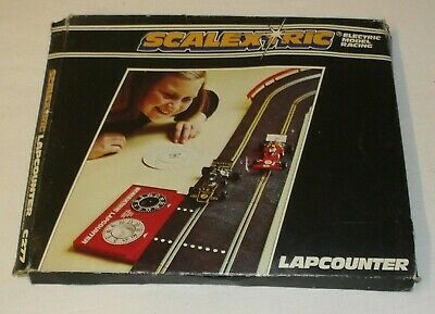 Scalextric Model Car Racing LAP COUNTER & Speed Computer C277 BOXED WORKING VGC • 7.99£