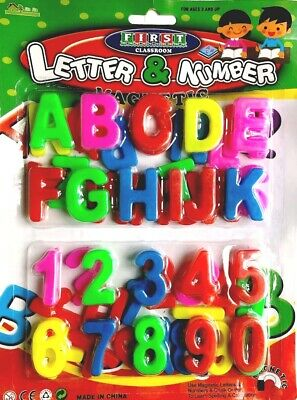 Kids Learning Teaching Toy 52 MAGNETIC LETTERS & NUMBERS Fridge Magnet Alphabets • 2.49£