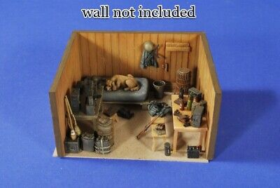 █ 1/35 Resin WWII German Soldier Room Items No Wall Set Unpainted QJ036 • 15.73£