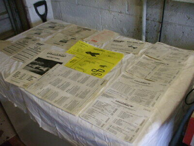Scalextric Paperwork From Older Items • 5£