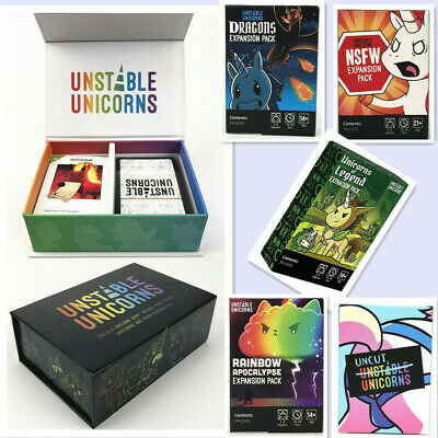 Unstable Unicorns Core Card Base Game With All Expansion Pack New Sealed Party • 25.99£