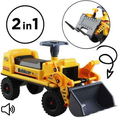 DeAO 2 In 1 Kids Childens Electric Ride On Truck Tractor Toddler Scoop Bulldozer • 29.99£