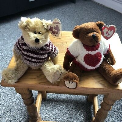 TY Attic Bears 2 Collectable Chelsea And Casanova • 28£