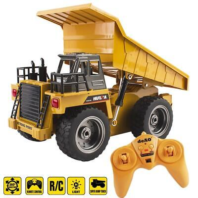 DeAO Remote Control 1:18 Die Cast Dumper Truck With 6 Channel & Light Functions • 29.99£