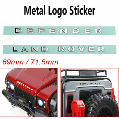 LAND ROVER And DEFENDER Metal Logo Sticker For TRAXXAS  TRX4 RC4WD D90 D110 • 2.98£