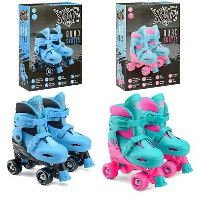 Xootz Kids Quad Skates Blue / Pink Adjustable UK Sizes 9-12 13-3 Infant Outdoor • 23.99£