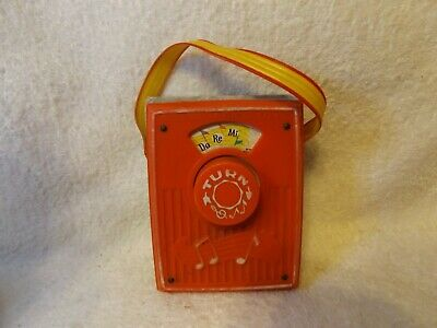VINTAGE TOYS FISHER PRICE  MUSIC BOX  POCKET RADIO 4 1/2  TALL OUT OF 60's • 24.90£