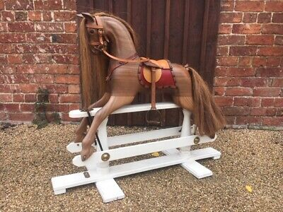 Stunning Wooden Rocking Horse By Withers Rocking Horses Delivery Worldwide • 1,250£