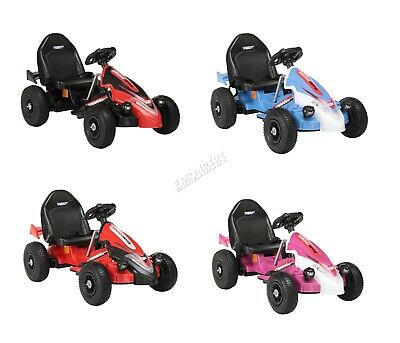 GALACTICA Electric Kids Go Kart Racing Pedal Ride On Car Rubber Tyre 12V Battery • 79.99£
