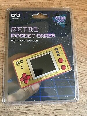 Retro Pocket Games With 1.8-Inch LCD Screen Orb Gaming • 15£