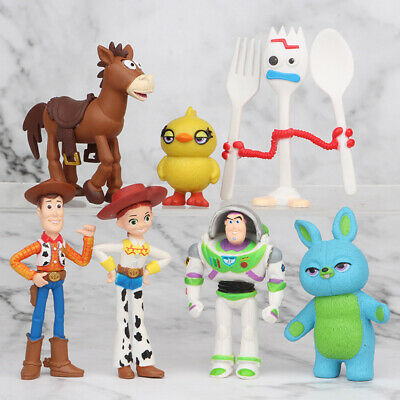 7 PCS Toy Story Woody Bulleye Buzz Lightyear Action Figure Kids Toys Cake Topper • 6.88£