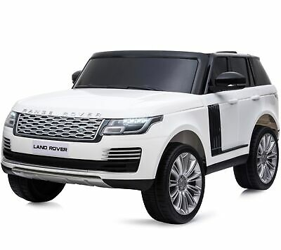 Licensed 24V Range Rover Vogue HSE 4WD 2 Seater Ride On Jeep - White • 379.95£