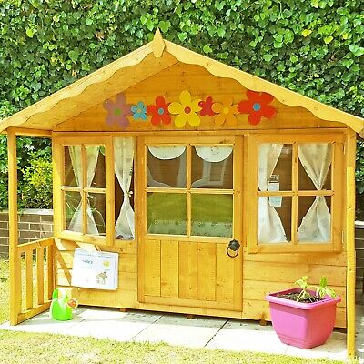 6x5 CHILDRENS WOODEN WENDY PLAYHOUSE KIDS WOOD CANOPY GARDEN WINDOW PLAY HOUSE  • 399.94£