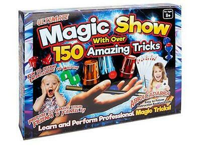 Kids Magic Set 150 Tricks Childrens Magician Trick Illusions Wand Rabbit • 8.99£