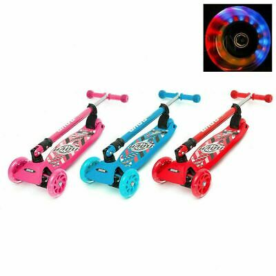 Kids Child Kick Push Scooter 3 Wheels LED Flashing Tilt Lean Boys Girls Scooter  • 25.99£
