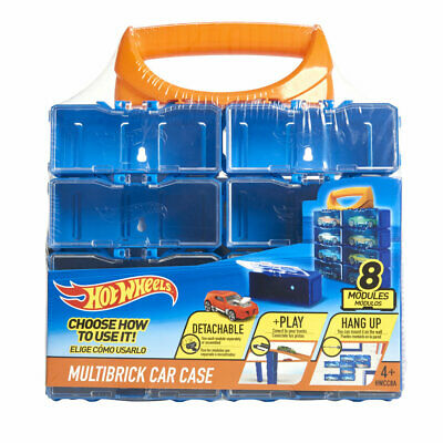 Hot Wheels 8 Modular Multi Brick Car Case Detachable / Play / Hang Up - New • 6.49£