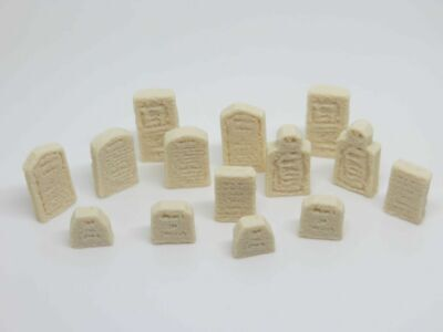 OO HO Gravestones - Set Of 14 Weathered And Highly Detailed - 20mm 1/72 1/76 • 2.99£